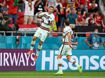 FOTO: Euro 2020, Hungaria vs Portugal 0-3, CR7 Sumbang Dua Gol