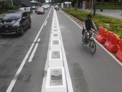 Kapolri Setuju Jalur Sepeda di Sudirman-Thamrin Permannen Dibongkar, Tapi...