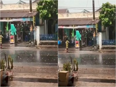 Waspada, Ciparay Bandung Dilanda Hujan Es Disertai Angin Kencang saat Siang Bolong