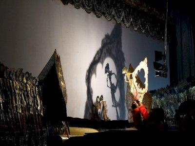 FOTO: Parade Dalang Bocah Tingkat Jawa Timur