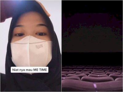 Wanita Ini Curhat 'Me Time' Nonton Film Horor di Bioskop, Endingnya Malah Bikin Merinding!