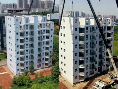 Wow! Perusahaan Tiongkok Bangun Gedung 10 Lantai Cuma dalam Waktu Sehari, Ini Videonya
