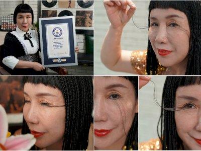 Wanita Ini Pecahkan Rekor Bulu Mata Terpanjang, Bisa Mencapai 20,5 Cm