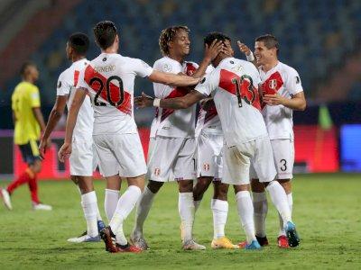FOTO: Copa America 2021, Gol Bunuh Diri Bawa Peru Kalahkan Kolombia 2-1