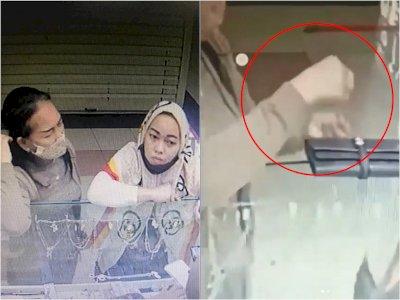 Duh! Ibu-ibu di Bandung Terekam CCTV Curi Emas di Dalam Mall, Modus Pura-pura Pilih Gelang