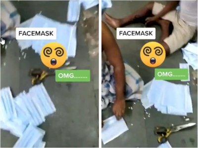 Viral Video Produksi Masker Tak Steril Hingga Ditaruh Di Lantai, Bikin Netizen Jijik