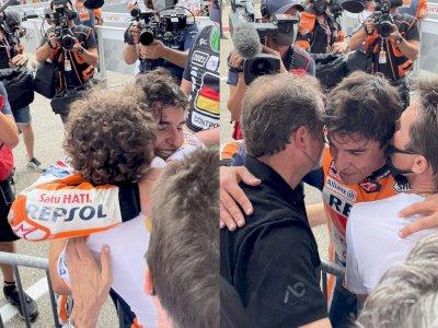 Marc Marquez Sempat Sujud Syukur dan Menangis Usai Juarai MotoGP Jerman