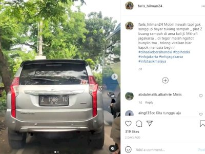 Video Detik-detik Orang di Dalam Mobil Mewah Kedapatan Buang Sampah Sembarangan