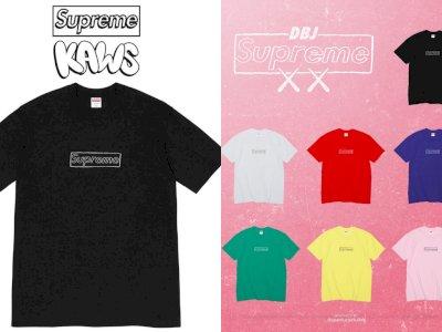 Supreme Kolaborasi Bersama KAWS untuk Luncurkan T-Shirt Baru