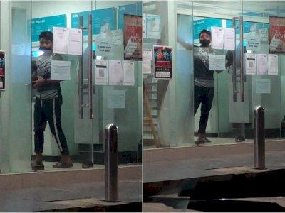 Viral Warga Panik Terjebak di Ruang ATM Usai Tarik Uang, Netizen Sesak Napas Melihatnya