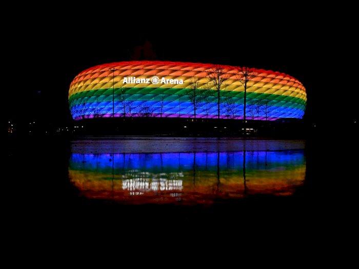 UEFA Disebut Menentang Rencana Jerman Hiasi Allianz Arena dengan Lampu Pelangi Pro LGBT