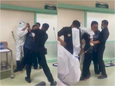 Viral, Pasien COVID-19 Mengamuk ke Satpam & Petugas Medis RS, Diduga Belum Dapat Kamar