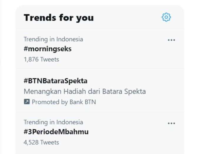 Ramai Jabatan Presiden 3 Periode, Tagar #3PeriodeMbahmu Trending di Twitter