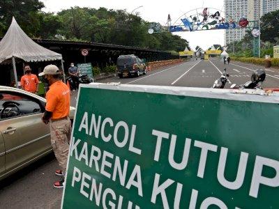 FOTO: Taman Impian Jaya Ancol Ditutup Sementara