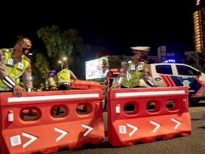 FOTO: Pembatasan Mobilitas Warga di Palembang