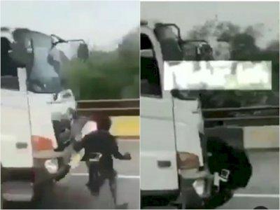 Detik-detik Bocah Tertabrak saat Hadang Truk di Jalan Raya, Netizen: Beban Orang Tua