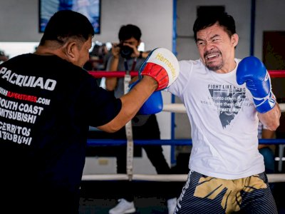 Mengintip Sesi Latihan Manny Pacquiao Jelang Hadapi Errol Spence, Masih Gesit di Umur 42