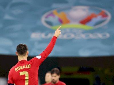 Antar Portugal ke 16 Besar EURO 2020, Cristiano Ronaldo Tuai Rekor Individu