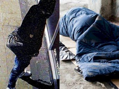Polisi Memburu Pria yang Menendang Pria Tunawisma dan Membuang Air Kecil di Selimutnya