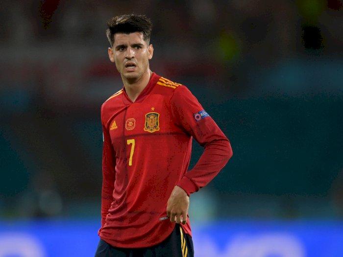 Frustasi, Alvaro Morata Curhat Keluarganya Diteror karena Tampil Buruk Selama EURO 2020