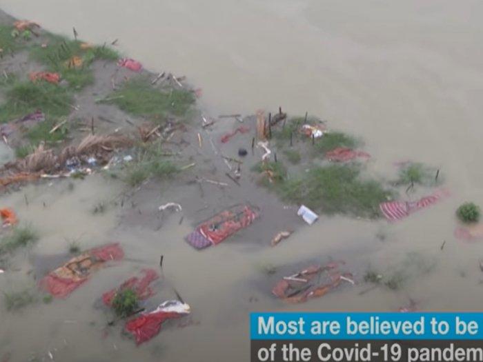 Mayat Korban Covid-19 Mengambang di Sungai Setelah Hujan Lebat di India