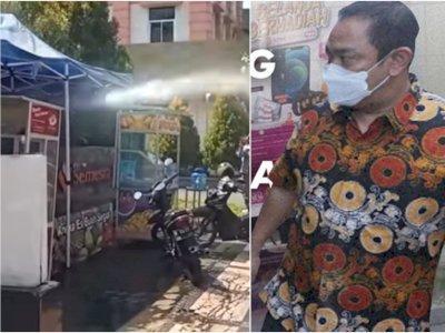 Ganas! Satpol PP Semarang Semprot Warung Kecil Pakai Air Pemadam Kebakaran, Ditegur Walkot