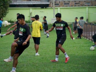 Meski Liga 2 Ditunda, Pasukan PSMS Medan Tetap Rutin Jalani Latihan di Stadion Kebun Bunga