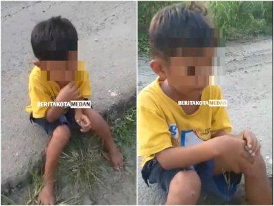 Miris! Bocah 8 Tahun di Medan Dicekoki Tuak Hingga Mabuk Sempoyongan, Jadi Bahan Tertawaan