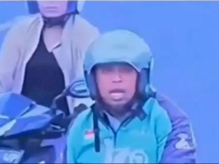 Viral Driver Ojol Bingung saat Dengar Suara TMC di Lampu Merah, Mulutnya Sampai Menganga