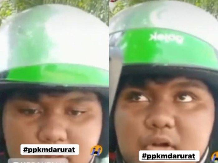 Driver Ojol di Medan Curhat Susah Lewat Gegara  PPKM Darurat: Kami Capek Kali Muter-muter