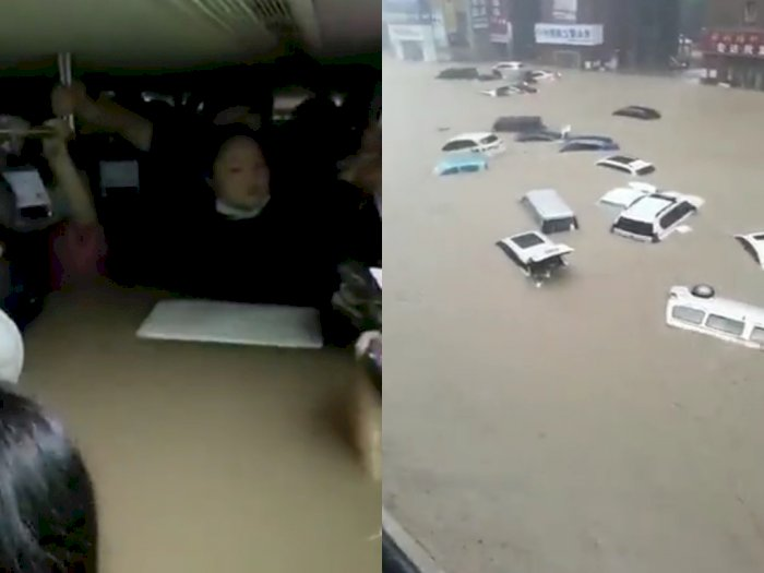 Video Banjir Parah di China: Terjebak di Kereta Api hingga Banyak Korban yang Tewas