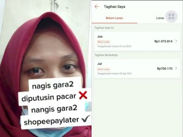 Wanita Ini Nangis Hingga Mata Sembab Karena Tagihan Belanja Online, Netizen: Ga Sadar Diri