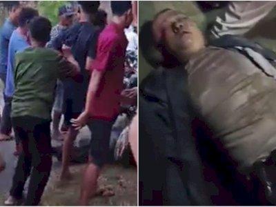 Miris! Oknum Polisi Malah Jadi Begal Motor, Bonyok dan Sekarat Dihajar Warga Ramai-Ramai