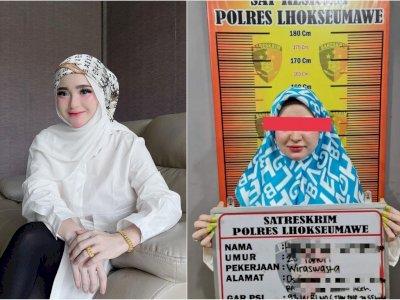 Selebgram Aceh, Herlin Kenza Resmi Jadi Tersangka Kerumunan, Ekspresinya Jadi Sorotan