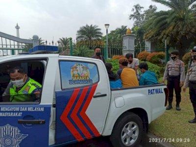 Sejumlah Orang Diamankan Polisi di Kawasan Monas, Terkait Isu Demo?
