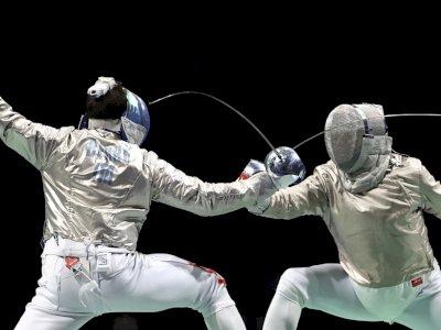 FOTO: Olimpiade Tokyo 2020, Pertandingan Anggar Pedang Perorangan Putra