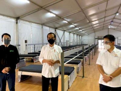 Presiden Jokowi Tinjau Fasilitas Kesehatan Rumah Oksigen Gotong Royong di Jakarta