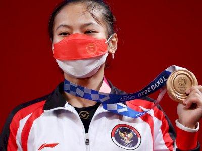 Windy Cantika Sempat Cedera Tertimpa Barbel Sepekan Jelang Olimpiade Tokyo