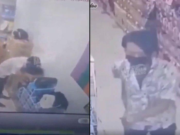 Astaga! Pria Terekam CCTV Gasak Dompet Milik Pegawai Minimarket, Modus Pura-pura ke Toilet