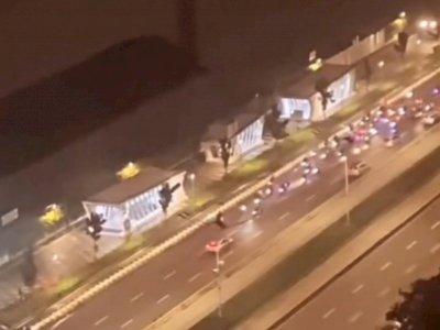 Ada Balap Liar di Jalan Sudirman, Polisi Tilang Puluhan Motor