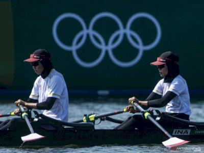 Finish di Urutan 6, Pedayung Mutiara/Melani Gagal ke Semifinal Olimpiade Tokyo