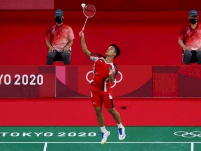 Mantap! Ginting Amankan Kemenangan Pertama di Penyisihan Grup J Olimpiade Tokyo