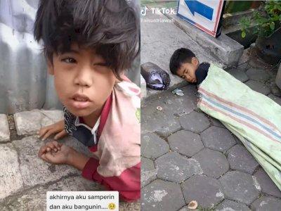 Terungkap! Bocah Laki-Laki Tidur di Pinggir Jalan, Ternyata Diusir oleh Ibu Kandungnya
