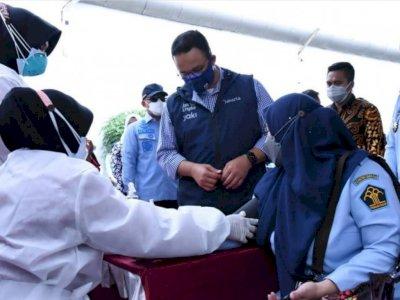 Vaksinasi Covid-19 di Jakarta Tembus 7 Juta, Begini Ungkapan Bahagia Anies