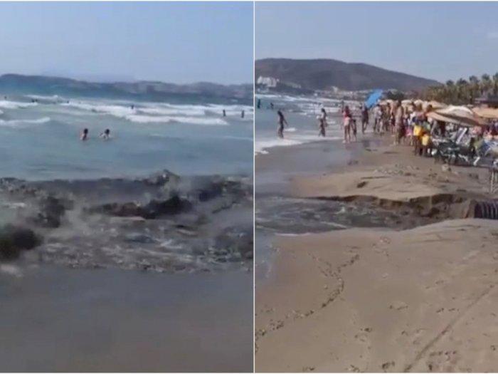 Limbah Membanjiri Pantai Populer di Turki Setelah Pipa Pembuangan Meledak