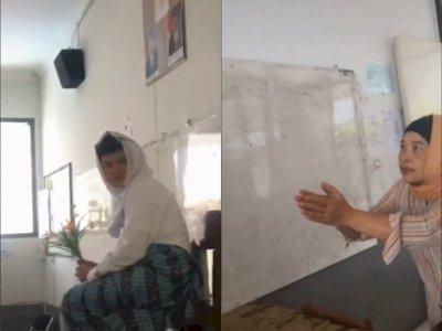 Viral, Siswa Akting Jadi Pengantin di Depan Kelas, Netizen Ngakak Lihat Ekspresi Gurunya