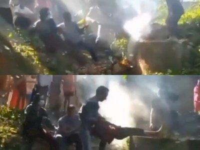 Dramatis! Detik-detik Warga Selamatkan Bocah yang Terperosok ke Dalam Sumur di Lampung
