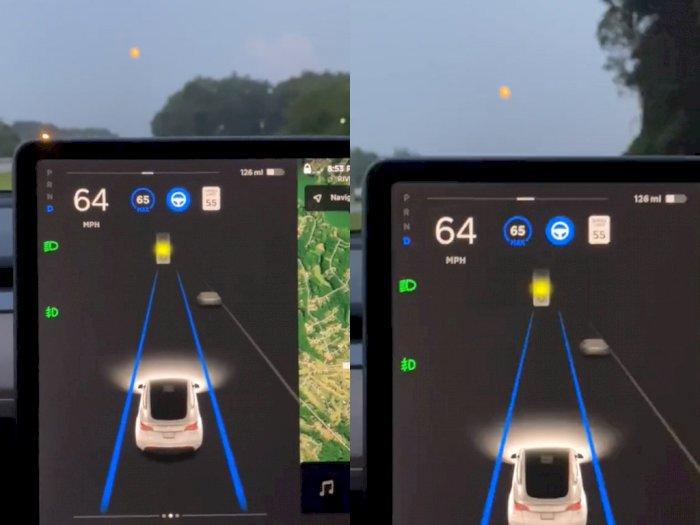 Sensor di Mobil Tesla Salah Deteksi, Mengira Bulan Sebagai Lampu Kuning di Jalan