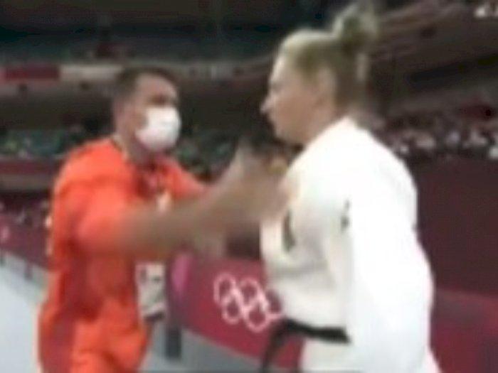 Detik-detik Pejudo Putri di Olimpiade Tokyo Ditampar Pelatih Sebelum Tanding, Pipi Memerah