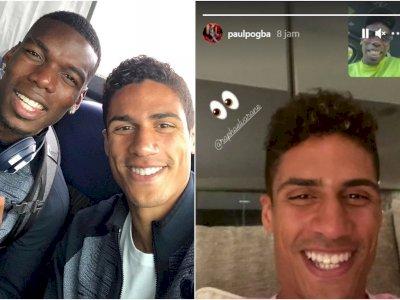 Jelang Transfer ke MU, Varane dan Pogba Video Call, Saling Senyum Sumringah